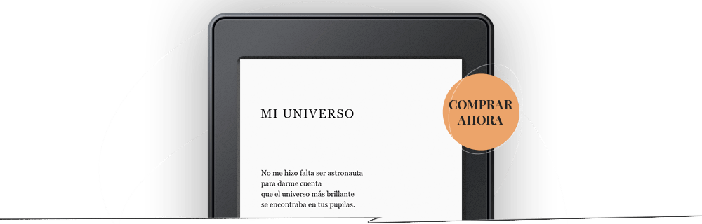 Poema en pantalla de Kindle